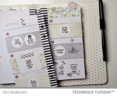 My Weekly Planner Insert - by Terri - Technique Tuesday