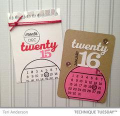 Twenty 16, Twenty 15 Calendar Cards
