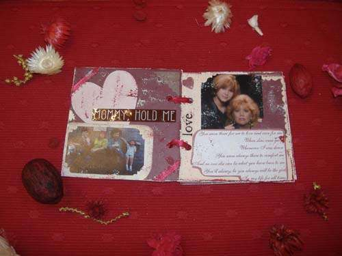 Mom mini scrapbook, and keepsake box