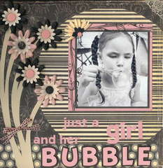 Just A Girl And Her Bubble