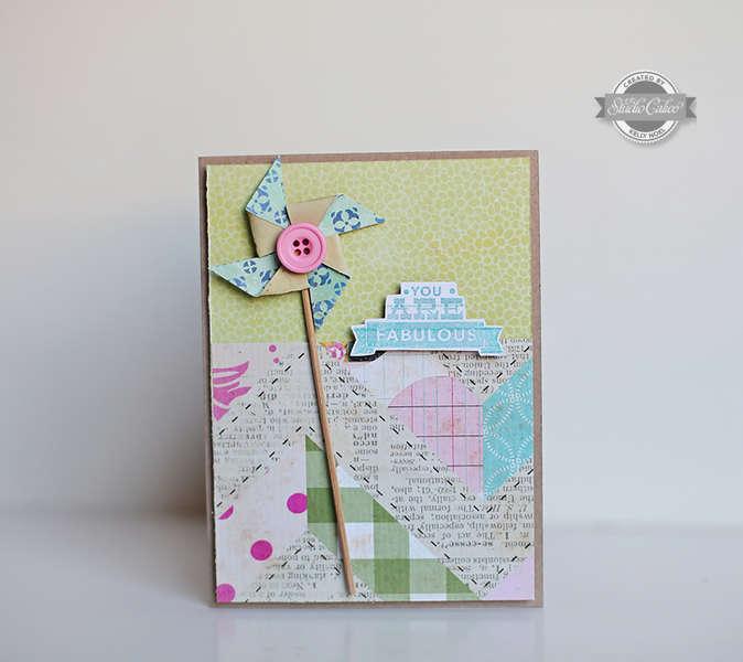 You are Fabulous card *Studio Calico So Cal kit*