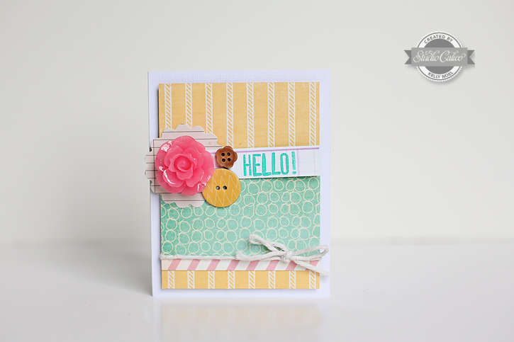 Hello card *Studio Calico Elmwood Park kit*