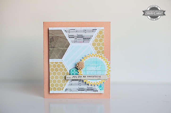 How Sweet It Is card *Studio Calico So Cal kit*