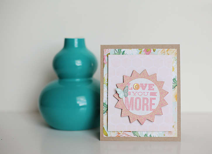 love you more card *Studio Calico April Kit*