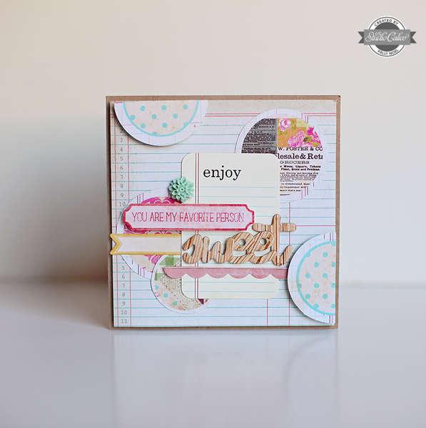 Sweet card *Studio Calico So Cal kit*