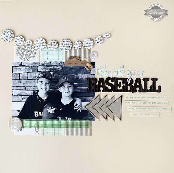 thank you baseball *Studio Calico August kit*