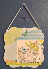 Designer Paula McLane had fun with the new AdornIt Art Play products
