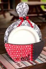 Wood Paper Plate Holder & Caroleeu0027s Creations Adornit - Picnic Collection - Paper Plate Holder