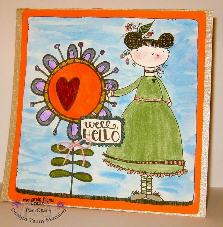 Designer Pam Stang from Mountain Plains Crafters Played with Adornit's New Art Play Paintables