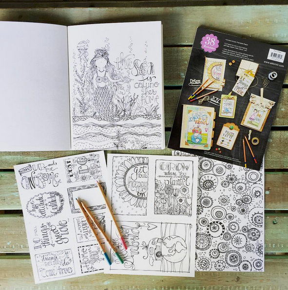 Adult Coloring Books from Adornit