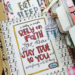 Rely on Faith Art Print Coloring Pages