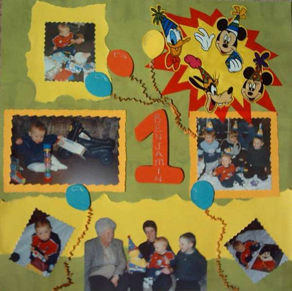 Benjamin's First Birthday - Mickey Mouse Party