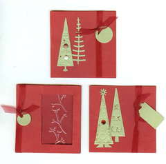 Christmas Tag Cards (X3)