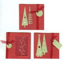 Christmas Tag Cards (X3)