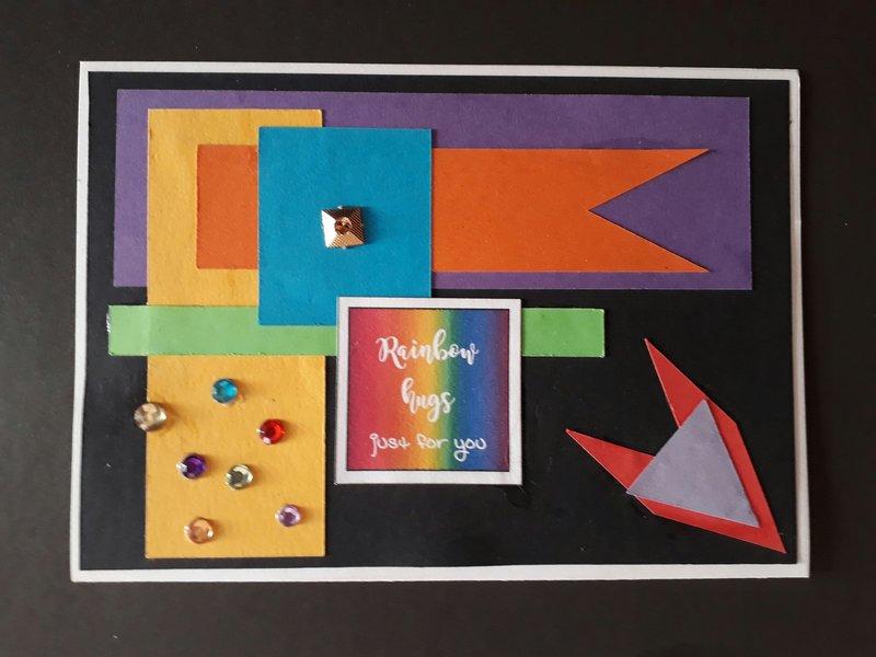 Rainbow shapes card