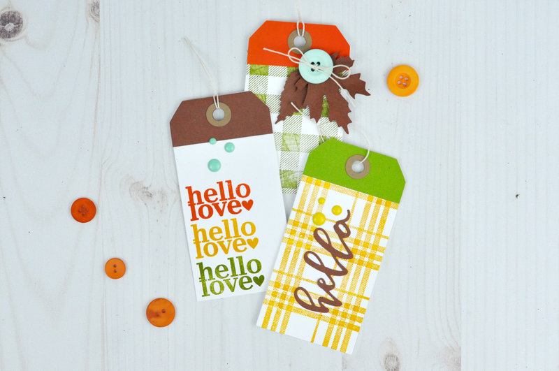 Autumn Stamped Tags