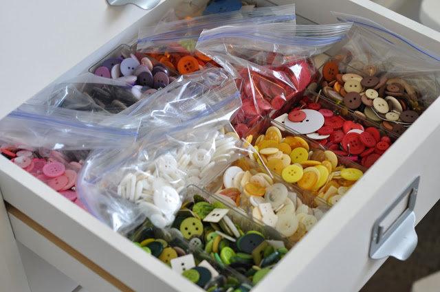 Jen Gallacher Craft Room Tour: Button Drawer