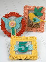 Die Cut Stamped Decorative Frames