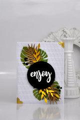 """Enjoy"" Tropical Card"