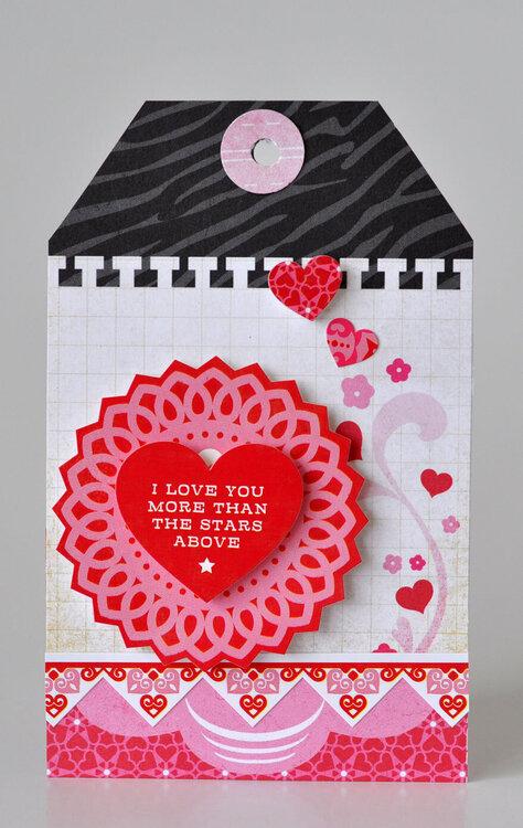 I Love You Valentine Tag