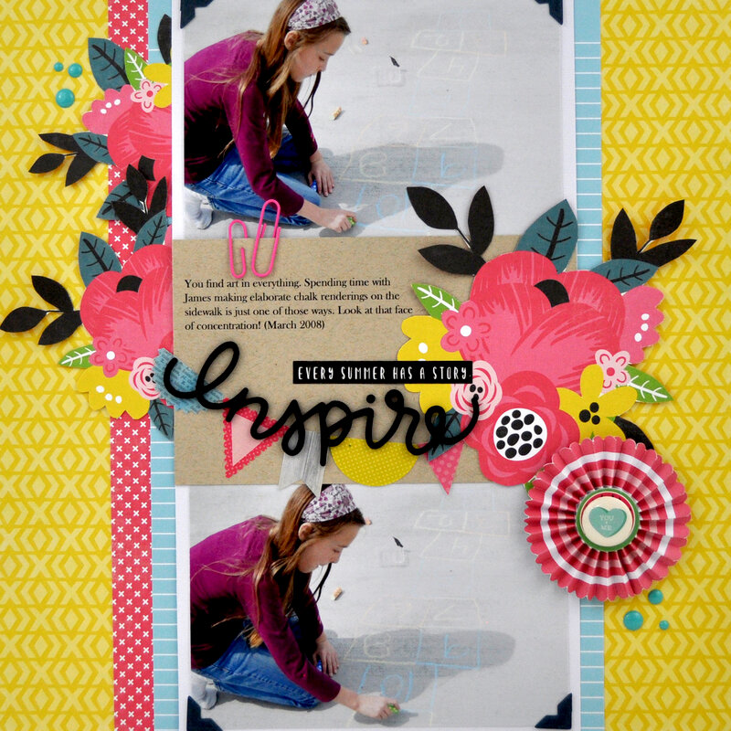 """Inspire"" Scrapbooking Process Layout with Video"