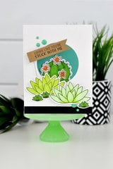Jillibean Soup Succulent Window Card