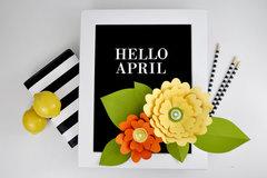 Letterboard Paper Flowers