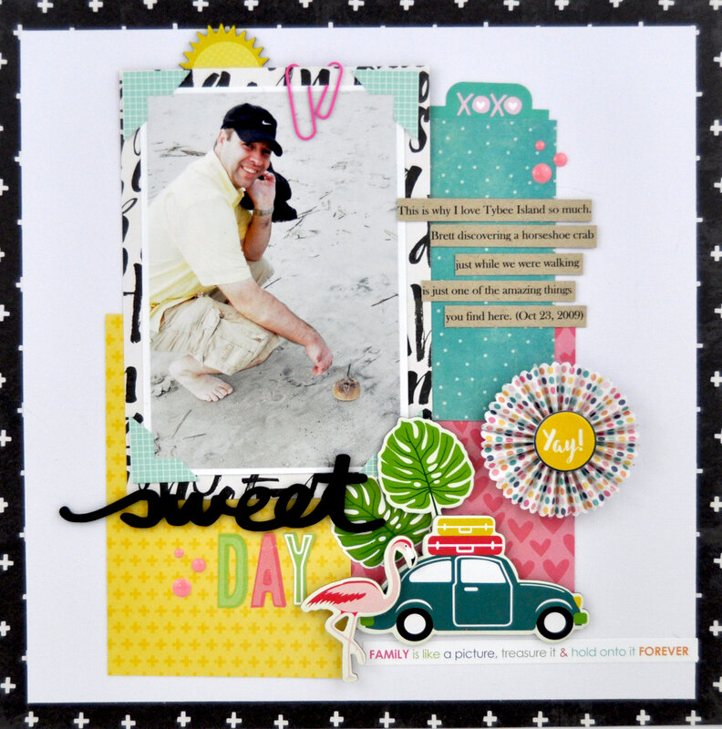 """Sweet Day"" Scrapbooking Process Video"