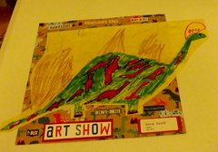 dinosaur from 2nd gr art show David Oct sports/play  10 share