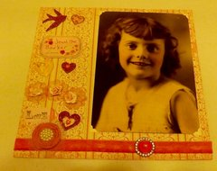 Jewel Mae Barker NSD embellish, mixed med May heritage challenge