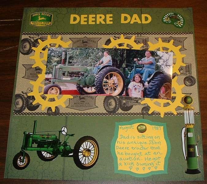 Deere Dad  1987   My Dad antique tractor