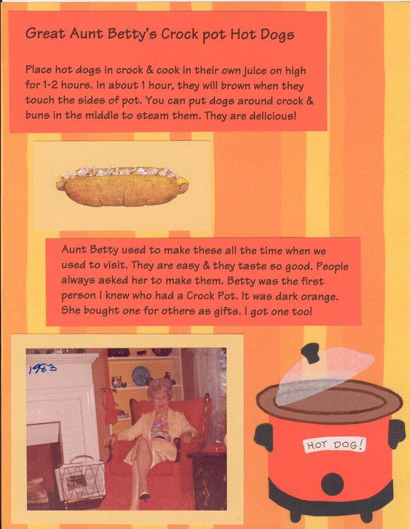 Crock Pot Hot Dogs   Heritage Recipe Album