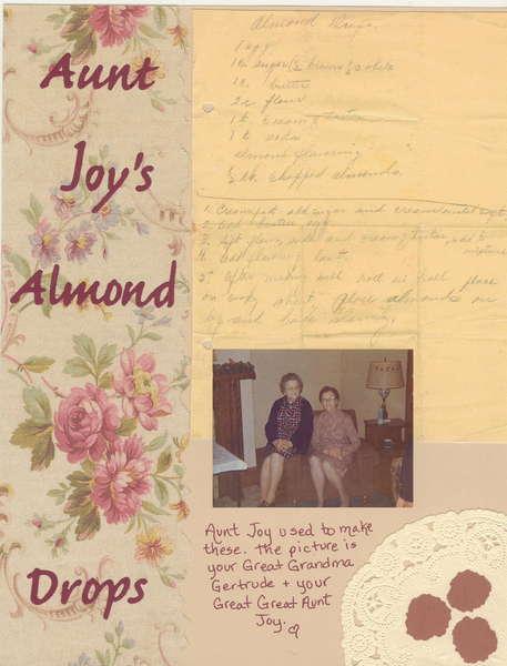 Almond Drops  Heritage Recipe Album