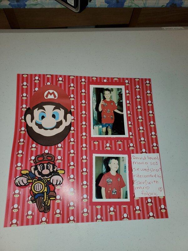 Mario shorts & tee shirt