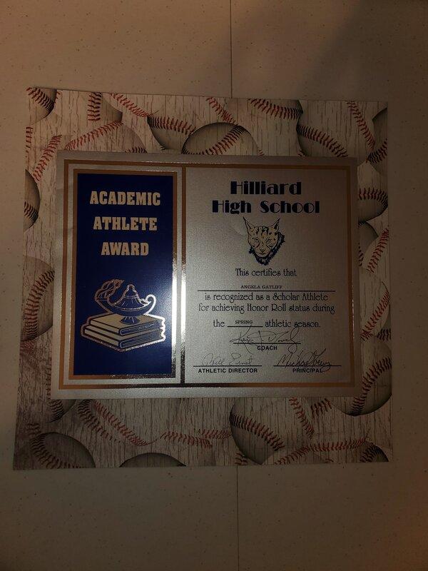 Angela HS softball honor roll
