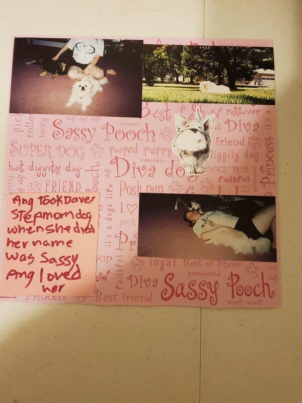 ang & her  dog sassy