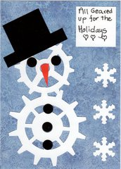 snowman tim holz christmas card challenge & holidays with Sizzix challenge