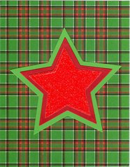 Star christmas card for holidays with Sizzix & random acts of holiday challenges