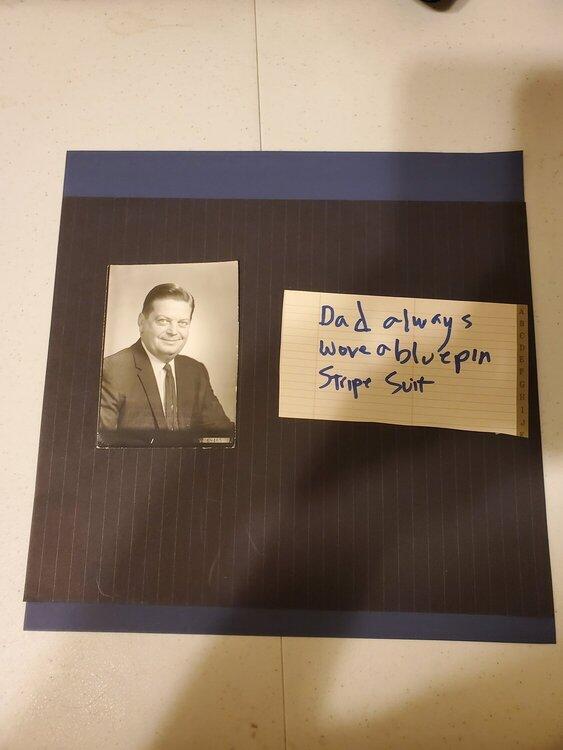 dad blue  pin stripe suit  june heritage challenge