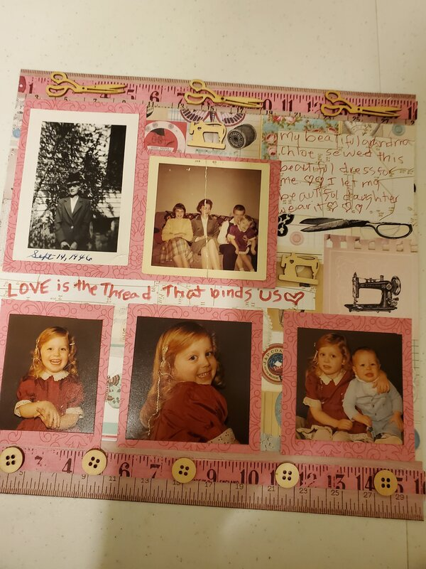 Love is the thread that binds us Ang & I & grandma novemberr heritage challenge
