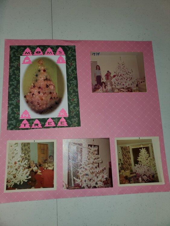 moms pink tree  pg 1 December heritage challenge