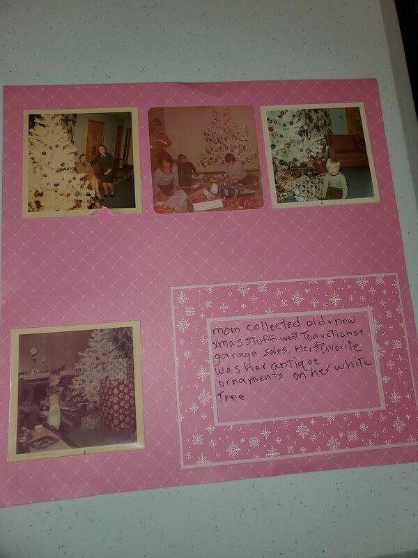 Moms pink tree   pg 2 December heritage challenge