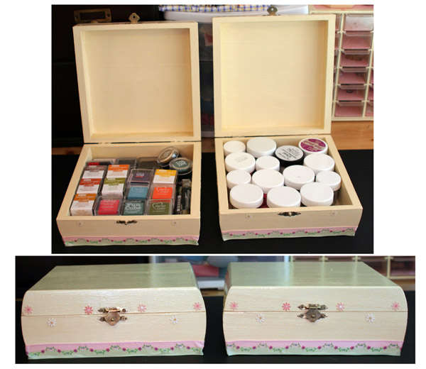 Matching storage boxes-Ink pad and embossing powder storage