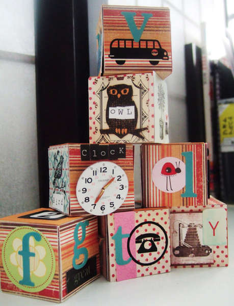 Altered a to z wooden blocks