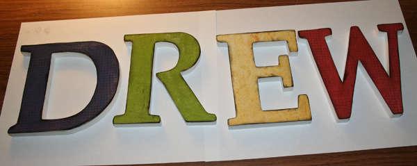 DREW - wooden letters