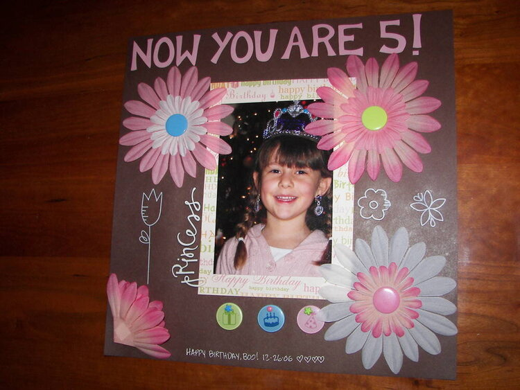 Now you are 5!