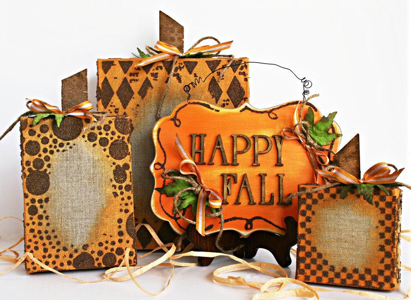 Fall Canvas Pumpkins **Prima**