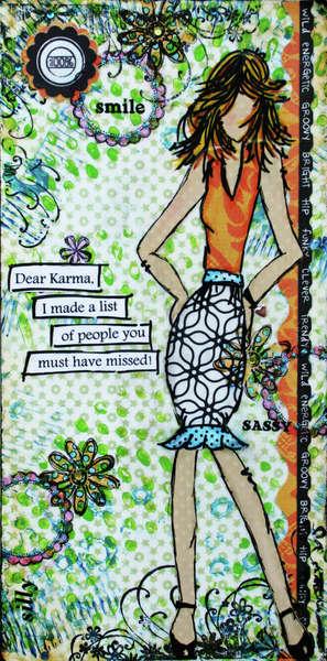 Dear Karma Mixed Media Canvas