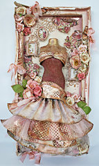Dress Form Canvas **New Prima Love Clippings""