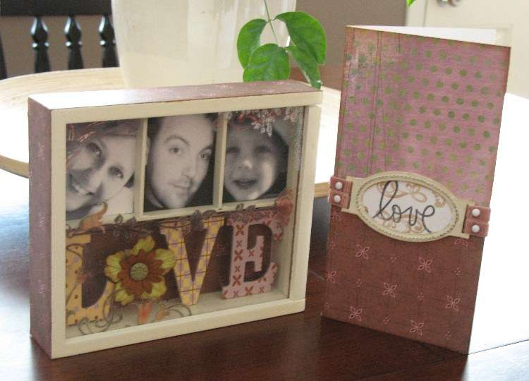 Prima Embellishment Box Shadowbox and Card